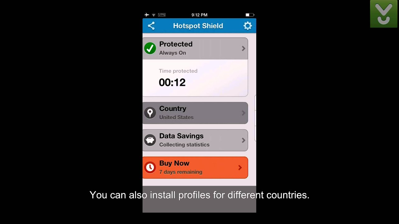 hotspot shield free download for iphone 5
