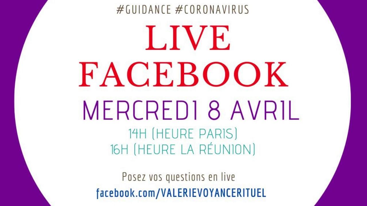 #Agenda : nouvelle guidance vidéo Live Facebook #coronavirus le 8/04/2020