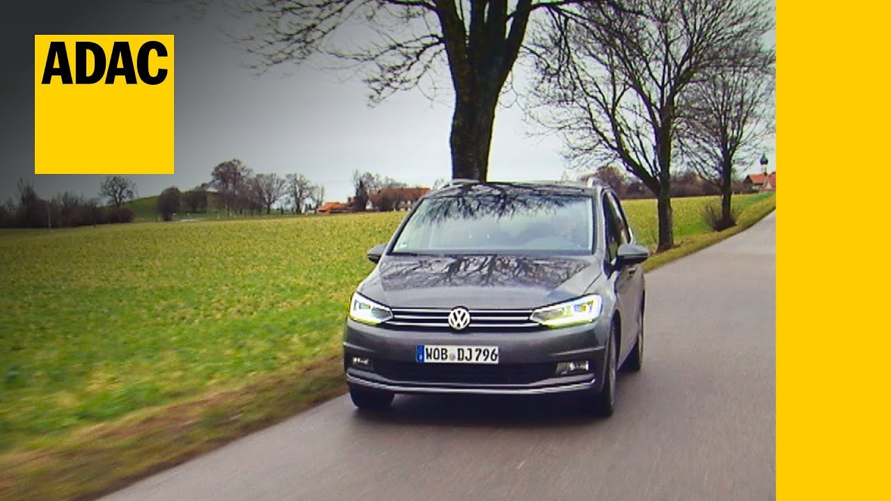 vw touran im test autotest 2016 adac youtube. Black Bedroom Furniture Sets. Home Design Ideas