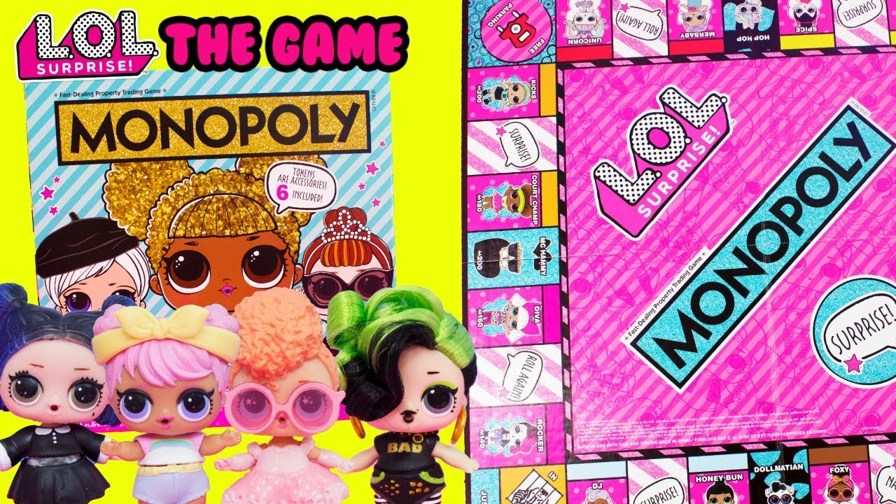 Lol Surprise Monopoly Game With Bhaddie Goodie Dawn Dusk Youtube
