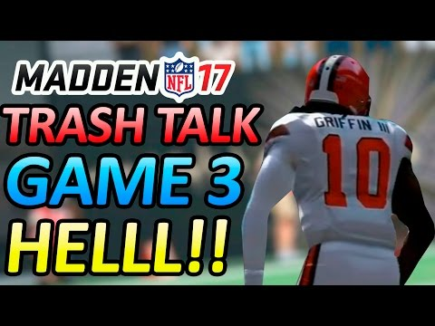 MADDEN 17 TRASH TALK!!! - KELVIN BENJAMIN IS 2 BIG!!! - CAM SACK FUMBLE BALL FLIES!! - UR TRASH BUM!