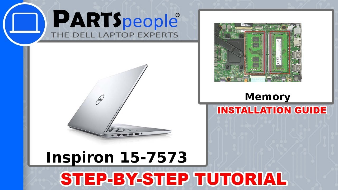 Dell Inspiron 15-7573 (P70F001) Memory How-To Video Tutorial