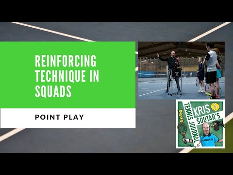 Developing tennis technique in squad training - part 4