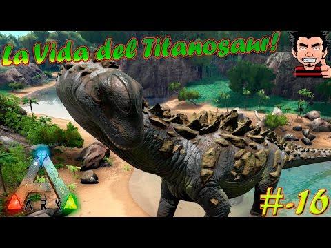 ARK Survival Evolved Titanosaur Play dino MOD | La LENTA vida del Titanosaur y Gallimimus español