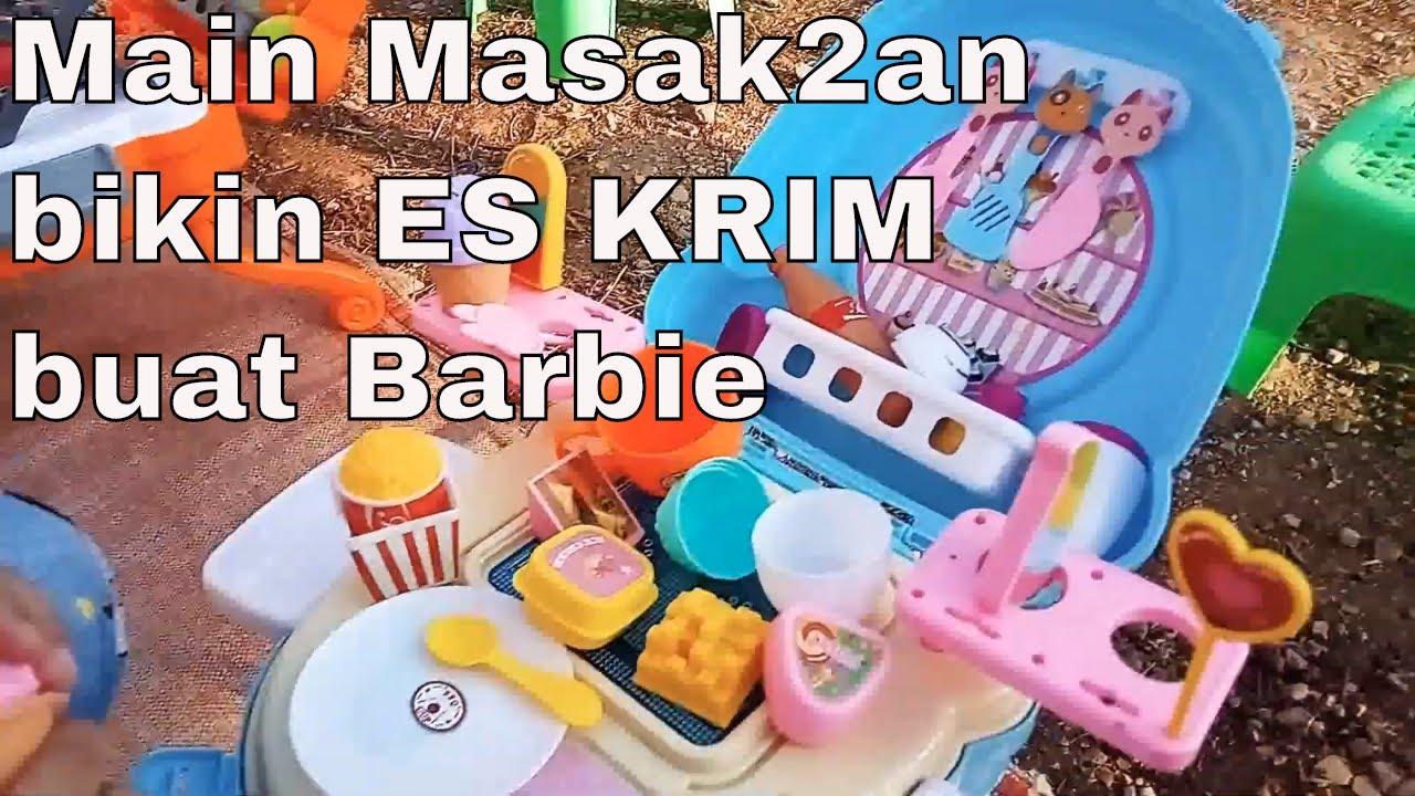 Mainan Anak Cewek Main Masak Masakan Buat Barbie Vlog Bunda Attar Dan Putri Youtube