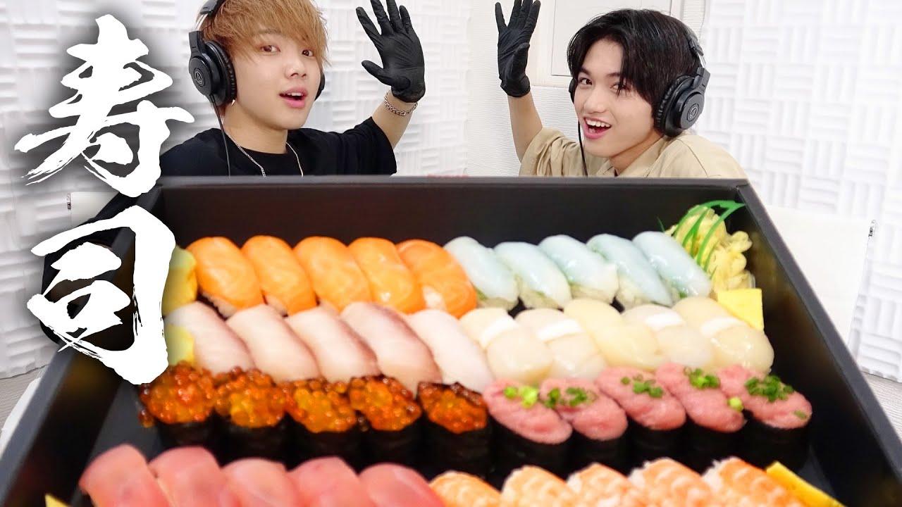 【モッパン風ASMR】寿司