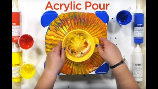 🎨 Acrylic Paint Pour - Acrylic Pouring Art on Wood Panels & Supplies 🎨