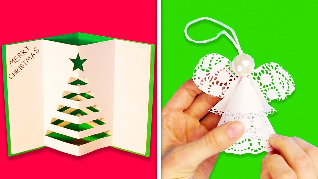 14 Simple Paper Decorations For Christmas Youtube