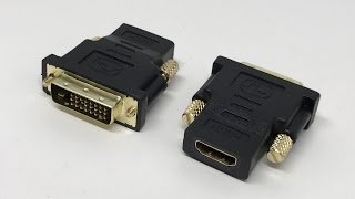 Ganvol (2 Pack) Gold Plated DVI (Male) to HDMI (Female) Two-Way Adapter | Unboxing【4K】