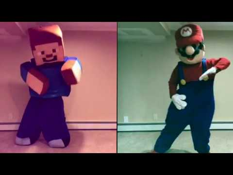 Minecraft VS  Mario Dance Off!! Watch Me (Whip/Nae Nae)