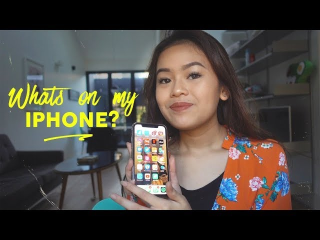 WHATS ON MY IPHONE X