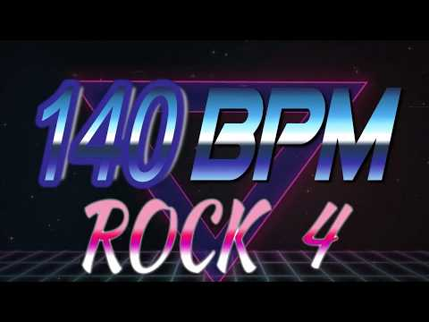 140 BPM - Rock 4 - 4/4 Drum Track - Metronome - Drum Beat