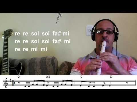 Flauta Doce  4 - Aquarela - Toquinho - Xyko Mestre