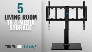 Top 10 Living Room Tv & Media Storage [2018]: Universal Table Top TV Stand for 32 to 60 inch TVs