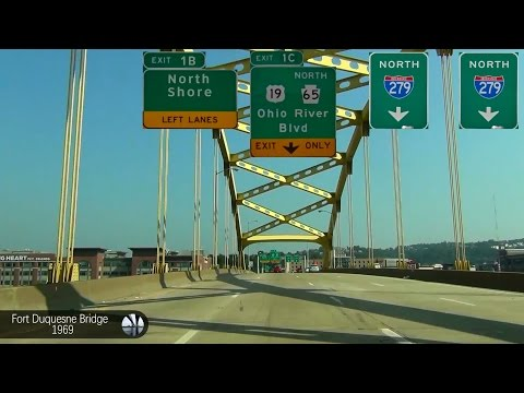 Escaping Pittsburgh, PA - I-279 - Pennsylvania/Ohio Turnpike