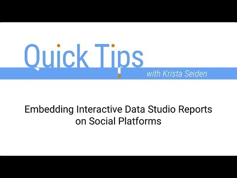 Embedding Interactive Data Studio Reports on Social Platforms