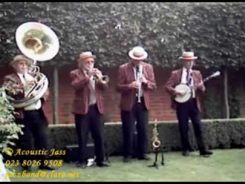 """At The Jazzband Ball"" by Acoustic Jass at a Wedding at Tylney Hall, Hampshire"