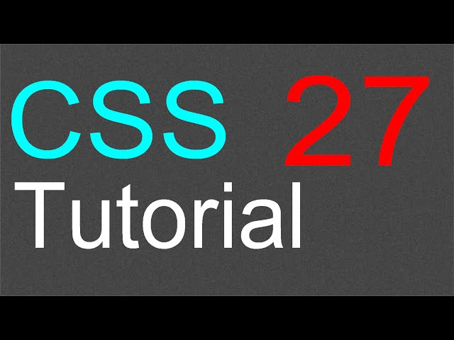 CSS Tutorial for Beginners - 27 - The SPAN element