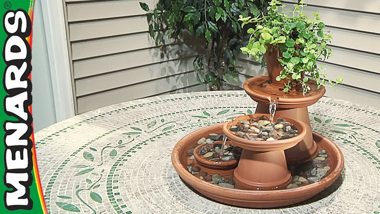 Gentil Terra Cotta Fountain   How To Build   Menards   YouTube