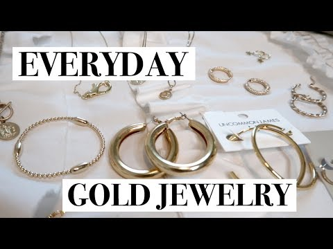 My Everyday Gold Jewelry Favorites | Hoops, Rings, Necklaces, Bracelets