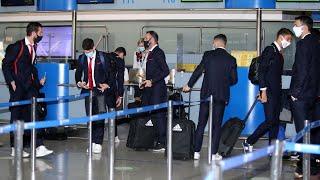 Η πτήση του Ολυμπιακού για την Πορτογαλία! / Olympiacos' flight to Portugal!