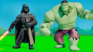 Мультик игра для детей ХАЛК против Дарт Вейдер супергерой звёздые войны и МАШИНКИ ТАЧКИ дисней