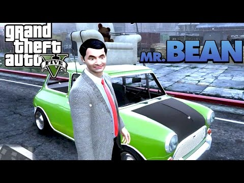 GTA V#Ep.15 - มิสเตอร์บีนกับหมีน้อยบนรถเขียว! 18+ | GTA5 Mr Bean mod! [AttemptZ]