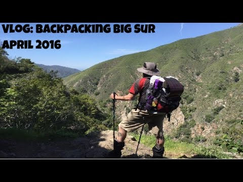 VLOG: Backpacking Big Sur April 2016