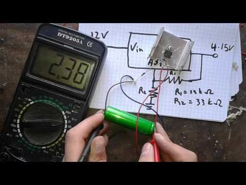 Simplest 18650 Li-ion battery charger that brings dead batteries to life using LM317
