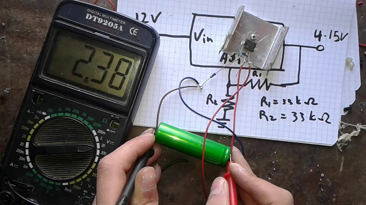 Simplest 18650 Li Ion Battery Charger That Brings Dead Batteries To Chargher Using Lm317 Regulator Circuit Schematic Life