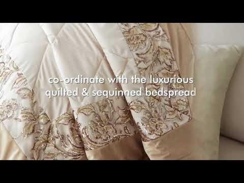 Catherine Lansfield - Sequin Trail Gold Bedding
