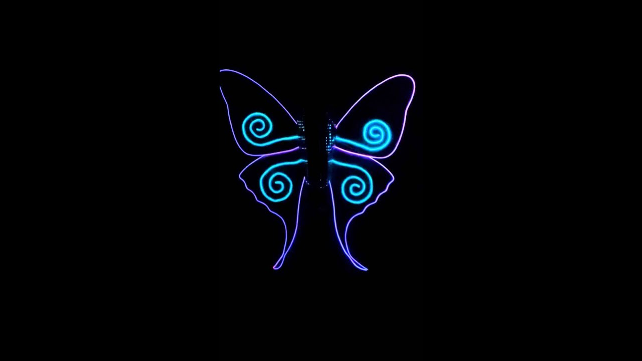 elwire butterfly wings by GravityXero Costumes - YouTube
