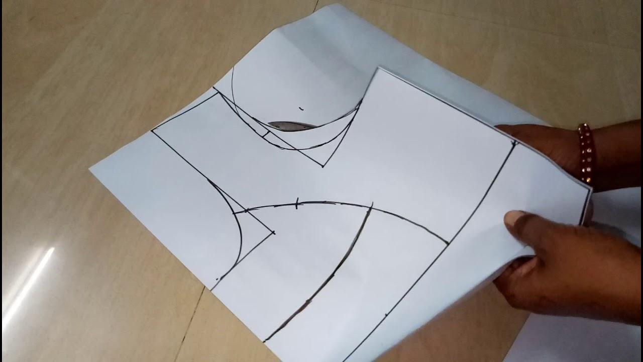 2491fe70c1831 Double Katori Blouse 30 Size Drafting and Cutting - YouTube