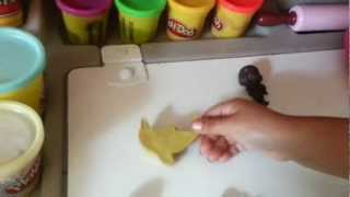 Play doh norita making figures with plastilina