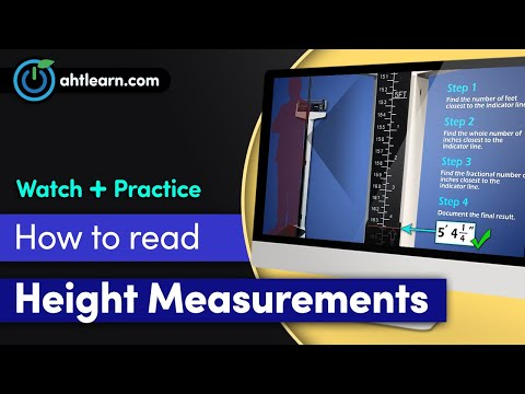 LearningTools: Reading Height Measurements On A Physician Mechanical Beam Scale With Height Rod