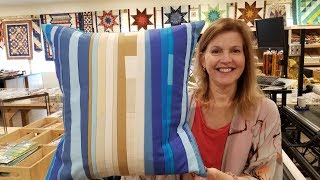 "No Scraps Left Behind! The Lovely ""Sand and Sea"" Scrap Busting Pillow Project"