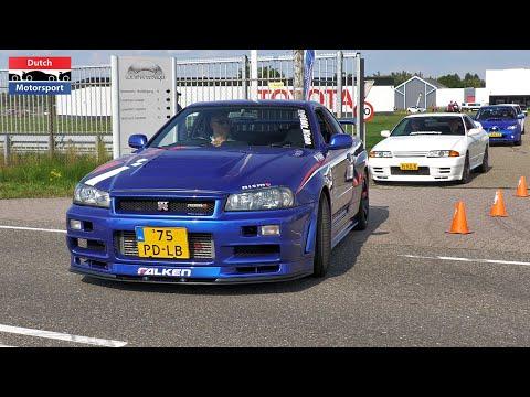 Download JDM Cars Leaving GO Japan 2021 - R34 Nismo R1, RX7, Mugen RR, Century Bosozoku, Chaser, Silvia 2JZ,.