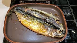 Grilled mackerel/고등어굽기#해피콜#양면팬