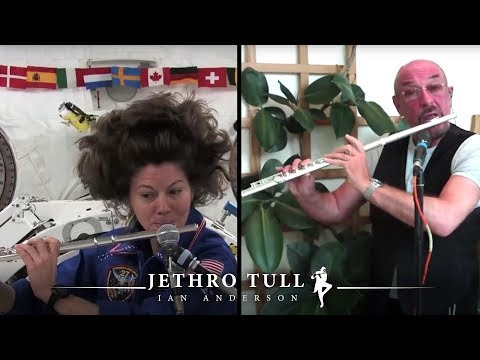 Ian Anderson + Cady Coleman flute duet in space