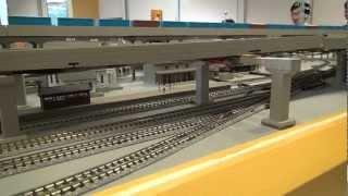 鉄道模型,Amtrak,F40PH型機関車のコース一周