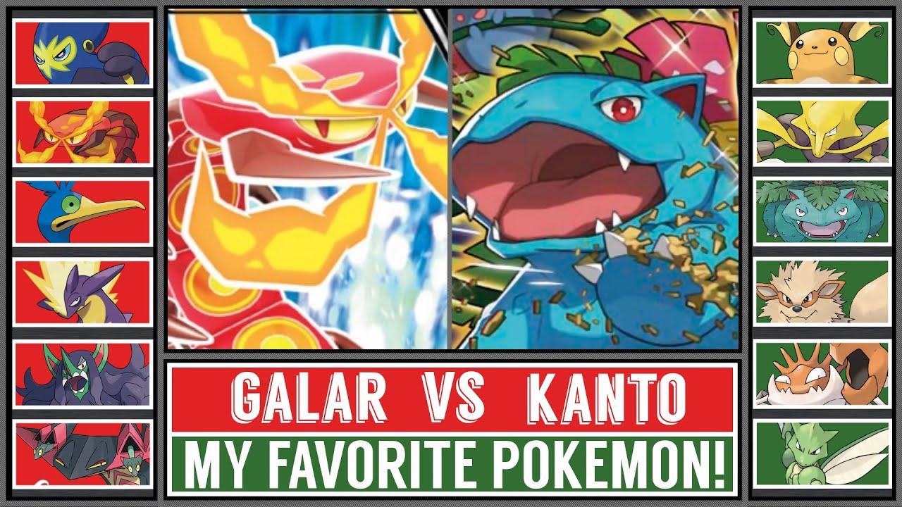 VS Favorite Pokémon Battle: KANTO vs GALAR