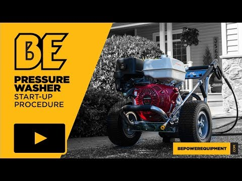 Pressure Washer Start up Procedure - YouTube