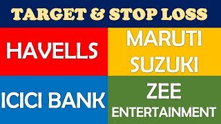 Maruti Suzuki Havells Zee Ent icici bank technical analysis | multibagger stocks 2019 india profit