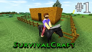 ( GAMEPLAY ) SURVIVALCRAFT ANDROID - SOBREVIVÊNCIA DIA # 1