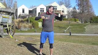 Mike Janyk trains for the Kidsport Challenge