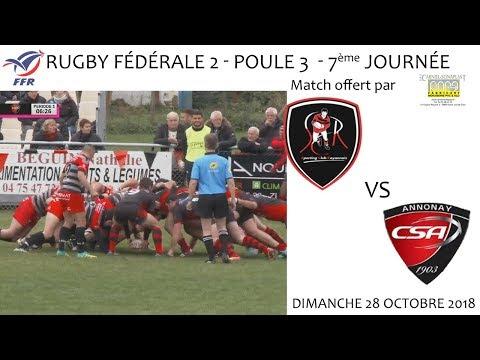 2018 10 28 Rugby   Fédéréle 2 journée 7   SCROYANS vs CS ANNONAY