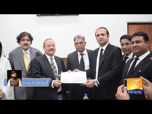 بیرسٹر سلطان محمود چوہدری کی لاہور ہائی کورٹ بار میں آمد.