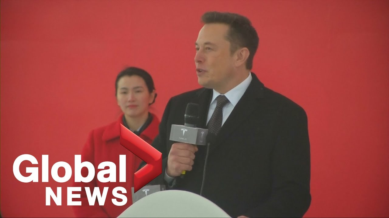 Elon Musk breaks ground at new high-tech Tesla factory in China