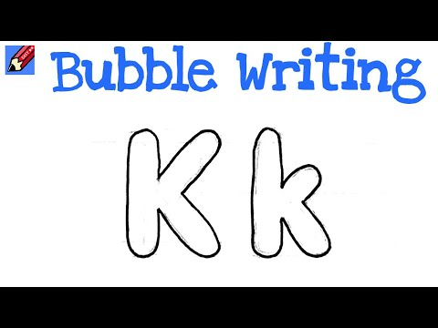 bubble letter k how to draw writing real easy letter k 20701 | hqdefault