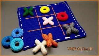How to Crochet Tutorial: DIY Tic Tac Toe Game and Tote by YARNutopia